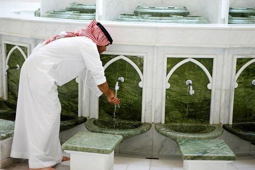 MOSQUE. Sheikh Zayed Grand Mosque Ablution area. United Arab Emirates.. : Stock Photo