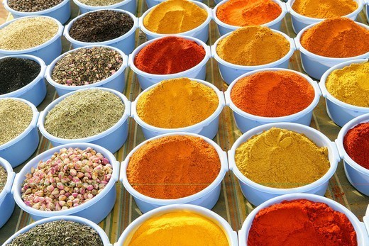 SPICE. SPICE Photo essay. Tunisia. Spice market. : Stock Photo