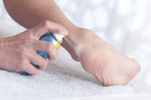 BANDAGE. BANDAGE Liquid bandage protects blisters. : Stock Photo