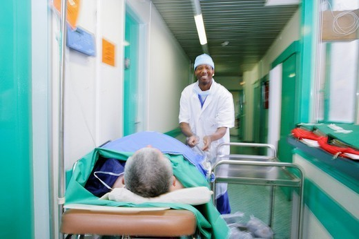 STRETCHER BEARER. STRETCHER BEARER Photo essay from clinic. Orthopedic clinic. Stretcher-bearer. : Stock Photo