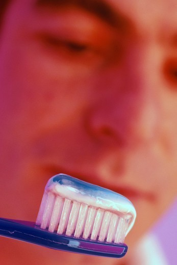 DENTAL HYGIENE,  MAN. DENTAL HYGIENE,  MAN Model. : Stock Photo