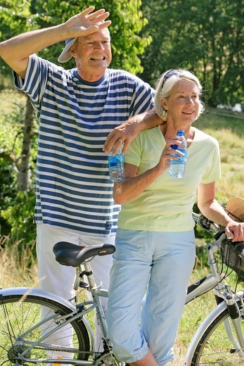THIRSTY ELDERLY PERSON. THIRSTY ELDERLY PERSON Models. : Stock Photo
