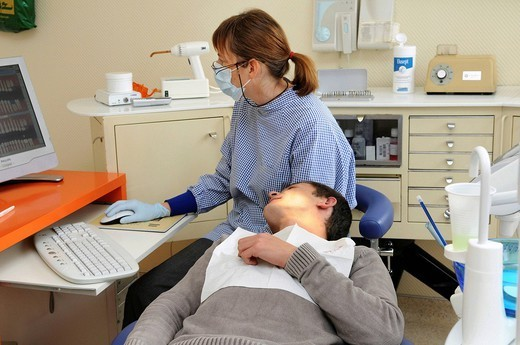 DENTIST. Photo essay from dental office. : Stock Photo