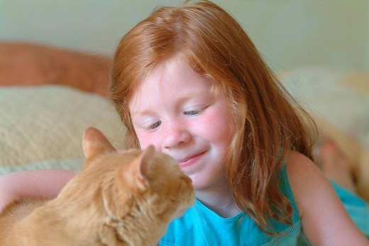 CHILD WITH ANIMAL. CHILD WITH ANIMAL Model. : Stock Photo