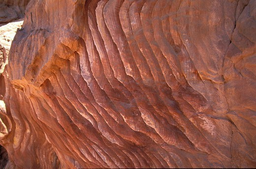 Stock Photo: 824-40635 SANDSTONE EROSION. Eroded sandstone in the Wadi Rum desert, in Jordan.