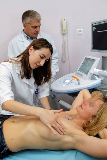 BREAST PALPATION : Stock Photo