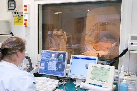 NMR. NMR Photo essay at the hospital of Meaux 77, France. : Stock Photo
