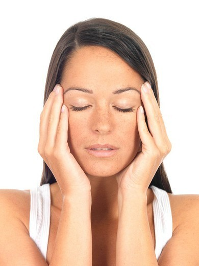 Stock Photo: 824-42952 WOMAN WITH HEADACHE. Worldwide distribution except for South Africa