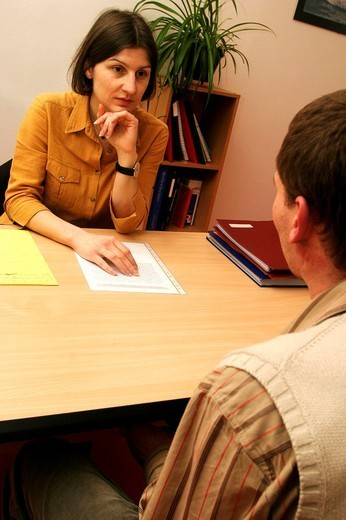 Stock Photo: 824-46564 MAN IN SPEECH THERAPY. MAN IN SPEECH THERAPY Photo essay from health professional´s office. Speech therapist. Rehabilitation of aphasia after a cerebrovascular accident.
