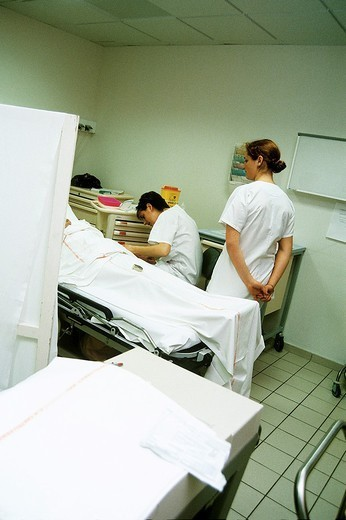 HOSP. CARE FOR EMERGENCY CASE. HOSP. CARE FOR EMERGENCY CASE Chatellerault Hospital (Camille Guérin Hospital) in the French department of Vienne. : Stock Photo