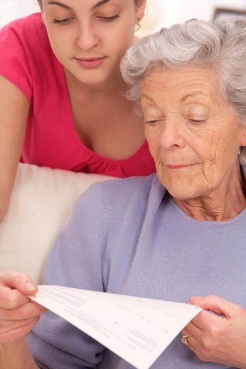 Stock Photo: 824-51871 SOCIAL AID FOR ELDERLY PERSON
