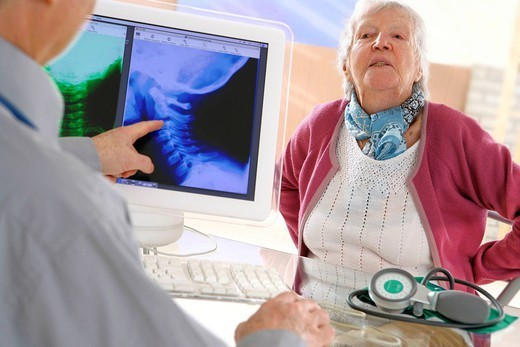 RHEUMATOLOGY, ELDERY PERSON. Models. : Stock Photo
