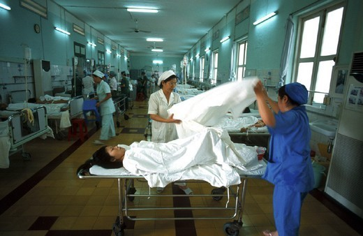 Stock Photo: 824-52379 A HOSPITAL IN ASIA. A HOSPITAL IN ASIA Photo essay from hospital. Tu Du Obstetrics Hospital, in Saigon, Vietnam. Resuscitation.