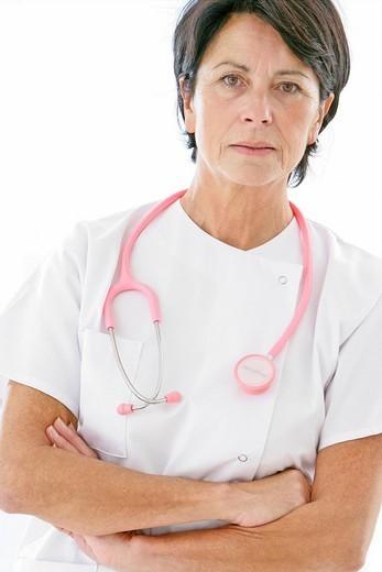 Stock Photo: 824-52923 DOCTOR IN HOSPITAL. DOCTOR IN HOSPITAL Model.
