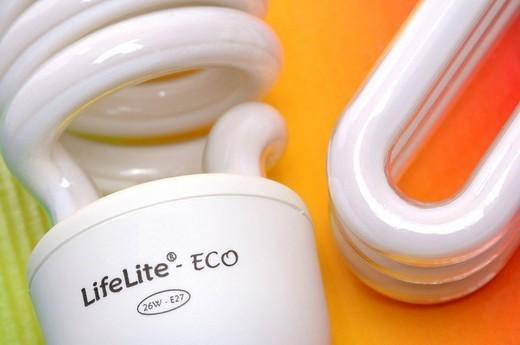 LOW CONSUMPTION LIGHT BULB. Low_consumption lightbulb. : Stock Photo