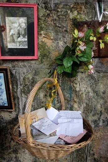 CHRISTIANISM. Sainte Geneviève des Bois, France. : Stock Photo