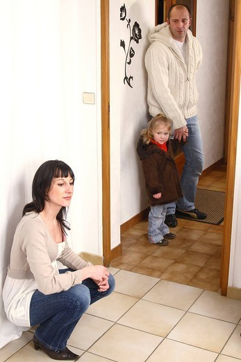 TEMPORARY CUSTODY. Models. Illustration of shared custody. : Stock Photo