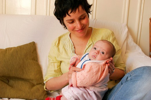 MOTHER & INFANT. MOTHER & INFANT Models. : Stock Photo