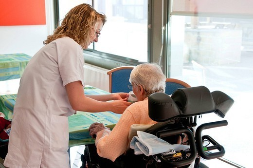 Stock Photo: 824-64103 HOME FOR THE AGED. Photo essay from hospital.