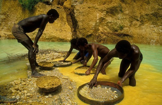 Stock Photo: 824-68230 DIAMOND MINE. DIAMOND MINE Diamond mine, Sierra Leone, Africa.