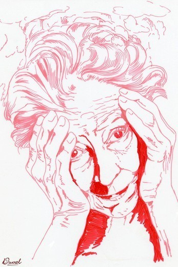 Stock Photo: 824-68249 ALZHEIMER´S DISEASE, DRAWING