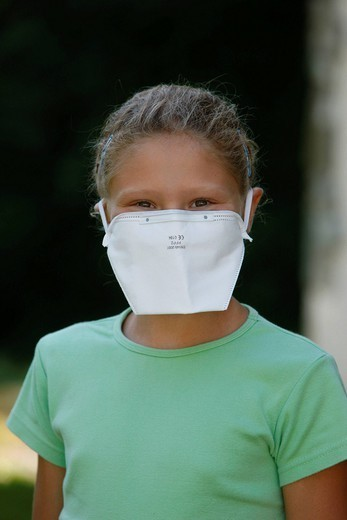 Stock Photo: 824-69853 PREVENTION, MASK. Model.