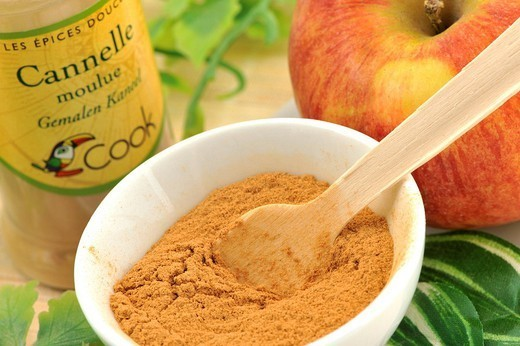 CINNAMON. Organic grinded cinnamon. : Stock Photo