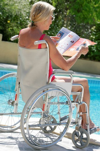 HANDICAPPED PERSON. HANDICAPPED PERSON Model. : Stock Photo