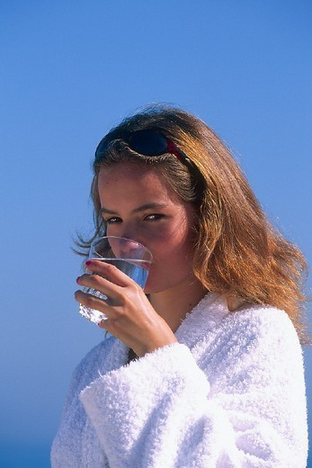 THIRSTY WOMAN. THIRSTY WOMAN Model. : Stock Photo