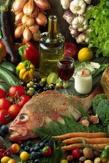 Stock Photo: 824-81445 MEDITERRANEAN DIET