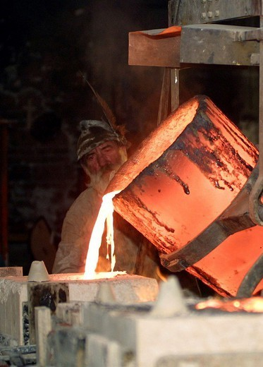 Stock Photo: 824-84797 METALLURGY. METALLURGY Worldwide distribution except for United Kingdom and Germany. Iron foundry.
