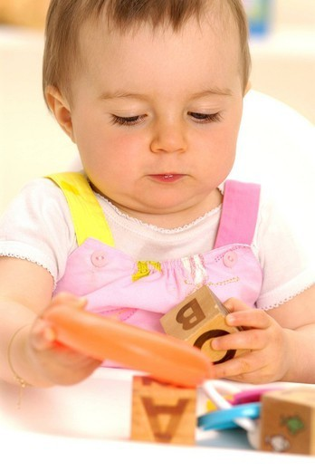 Stock Photo: 824-84836 CHILD PLAYING INDOORS