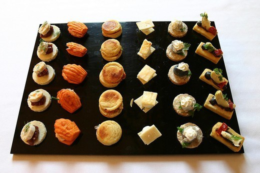COOKED DISH. COOKED DISH Buffet, petits fours. : Stock Photo