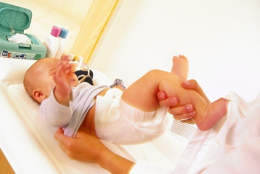 Stock Photo: 824-87385 INFANT HYGIENE. INFANT HYGIENE Models.