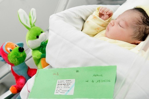 Stock Photo: 824-87749 NEWBORN BABY. NEWBORN BABY Photo essay from hospital.