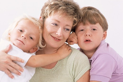 MOTHER & CHILD. MOTHER & CHILD Models. : Stock Photo