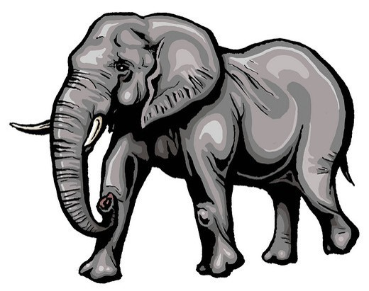 AFRICAN ELEPHANT. African elephant Representation of an elephant walking, inspired from an African elephant. Loxodonta africana  African elephant  Elephant  Elephantid  Mammal : Stock Photo