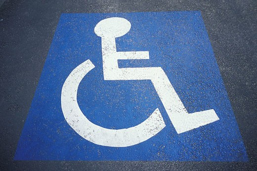 Stock Photo: 824R-1077 HANDICAPPED SYMBOL