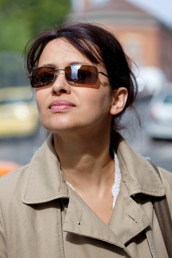 WOMAN OUTDOORS : Stock Photo