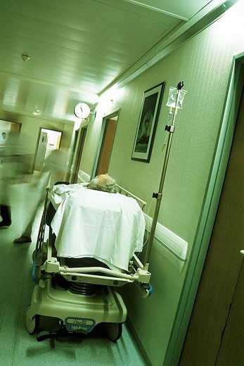 Stock Photo: 824R-2671 EMERGENCY CASE, HOSPITAL