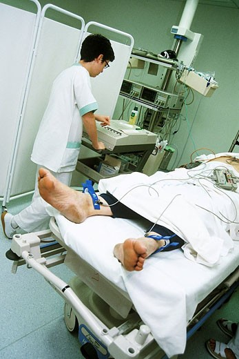 HOSP. CARE FOR EMERGENCY CASE : Stock Photo
