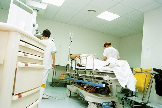 Stock Photo: 824R-2677 HOSP. CARE FOR EMERGENCY CASE