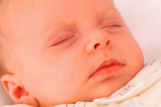 Stock Photo: 824R-3398 INFANT SLEEPING Model.