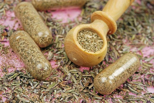 Stock Photo: 824R-3695 HERBAL MEDICINE