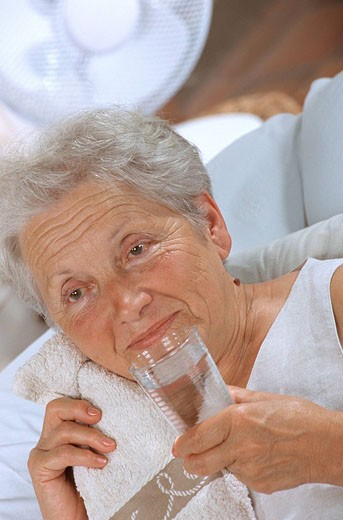 WARM WEATHER, ELDERLY PERSON Model. : Stock Photo