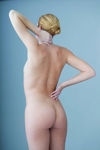 Stock Photo: 824R-5368 CERVICALGIA IN A WOMAN Model.