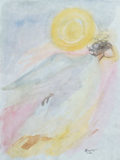 Stock Photo: 833-559 Angel Arnold Rice (20th C./American) Watercolor on Paper Private Collection