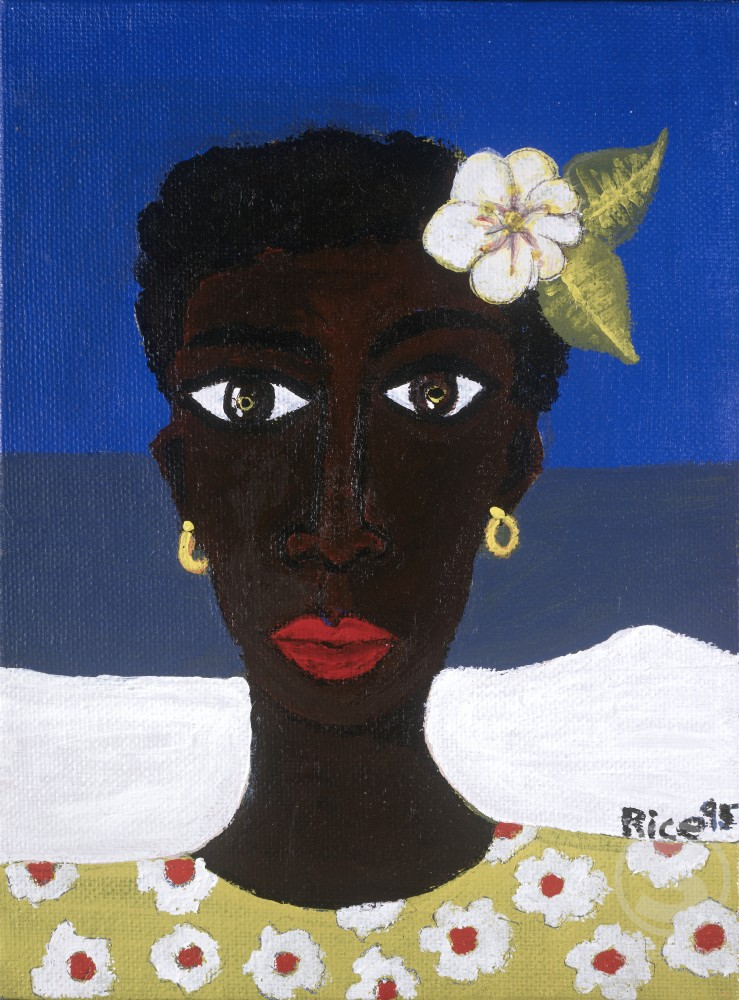 Stock Photo: 833-577 A Flower in Her Hair