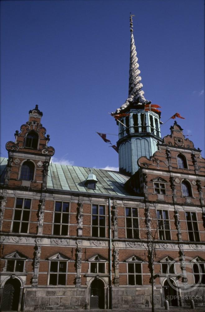 Old Stock Exchange Copenhagen Denmark : Stock Photo