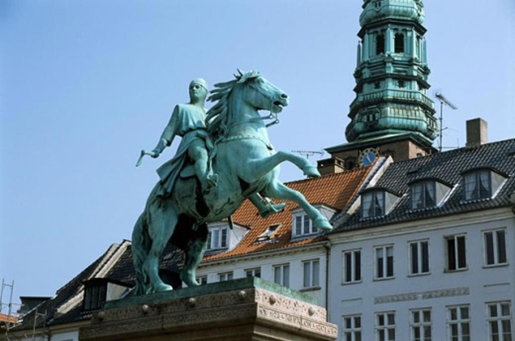 Stock Photo: 837-1516 Statue of Absalon Hojbro Plads Copenhagen Denmark